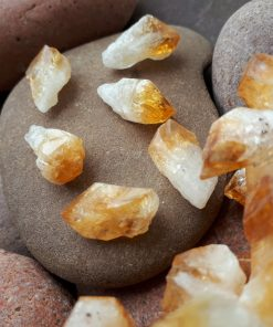 Tumbled Citrine Pebble – Pocket Stone – Natural Crystal Gemstone -Yellow Crystal Stone – Citrine palm stone – Raw Citrine November Birthstone