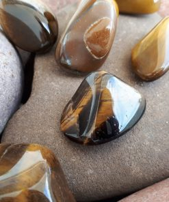 Best Crystal for car protection, Best Crystal for physical protection. Tumbled Tiger eye Pocket Stone – Tiger eye Pebble
