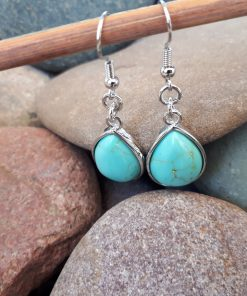 Turquoise Jewelry Set – Turquoise Dangle Earrings. emf protection necklaces, personal emf protection
