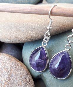 Amethyst Dangle Earrings- Amethyst teardrop Earrings For Women