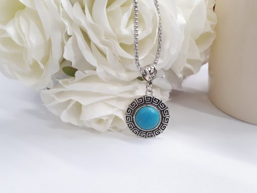 Anxiety necklace teething - anti anxiety stone necklace. Turquoise jewelry set – Turquoise stone Jewelry set