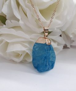 Throat chakra stones necklace - throat chakra stones healing. Druzy Agate pendant necklace – Druzy Agate Necklace Charm