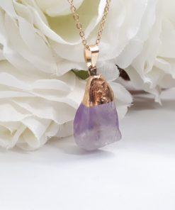 Amethyst birthstone jewelry - Amethyst Pendant – Raw Amethyst Necklace