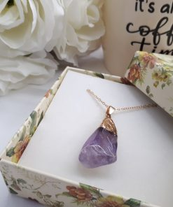 Amethyst birthstone jewelry - Amethyst Pendant – Raw Amethyst Necklace