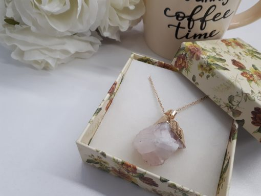 Crystal love stone necklace - the love stone necklace. Rose Quartz Pendant – Raw Rose Quartz Pendant