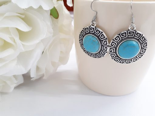 anxiety reducing stone - anxiety earrings stone gift. Turquoise Earrings set – Turquoise Jewelry set