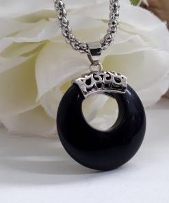 protective stone jewelry,protective stones for Gemini,protective stones from evil - Black Tourmaline Pendant. Round Tourmaline Pendant Necklace