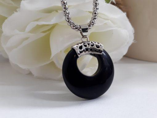 protective stone jewelry,protective stones for Gemini,protective stones from evil - Black Tourmaline Pendant. Round Tourmaline Pendant Necklace