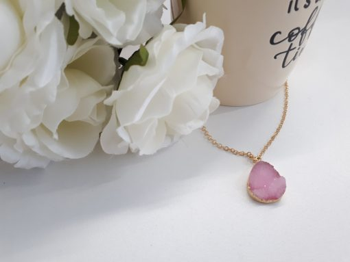 Purple Geode Necklace Druzy Pendant for unconditional love Agate. Purple Agate Druzy Pendant – Natural Crystal Necklace