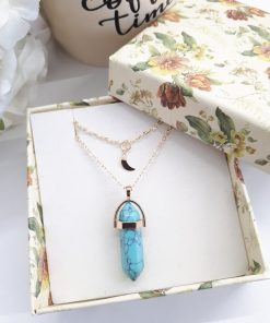 Crystal Point Pendant, crystal stones calming, crystal to calm the mind. Multi Strand Necklace Turquoise Point – Points Layered Necklace