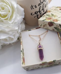 Amethyst Point Pendant Necklace – Multi Strand Necklace Point
