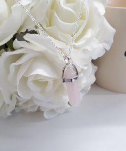 The unconditional love stone rose quartz pendant necklace - Rose Quartz pendant for Women