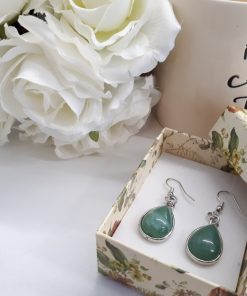 Heart chakra crystals for sale, heart chakra crystals healing. Green Fluorite Jewelry Set – Fluorite Dangle Earrings
