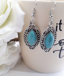Magnetic healing earrings, reiki earrings, reiki earrings studs, reiki healing earrings. Turquoise Oval Earrings – Turquoise and Silver Earrings – Turquoise Jewelry