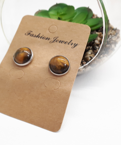 The Crystal for protection, Tiger Eye crystal benefits. Tigers Eye Earrings – Tiger Eye Stud