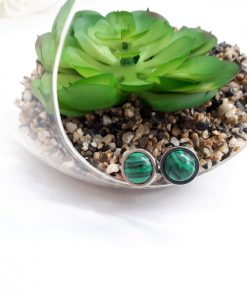 Crystal for spirit protection, Crystal for spiritual protection. Malachite Jewelry Set – Malachite studs Earring