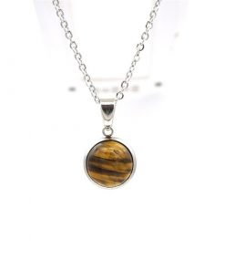 Crystal for protection from bullies, Crystal protection Set. Tigers Eye Necklace Set / Dainty Tigers Eye Necklace