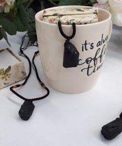 Black Tourmaline necklace pendant - Black Tourmaline Necklace-1