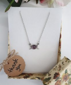 Genuine Amethyst Crystal Pendant - Amethyst Stone Necklace. Birthstone Jewelry gift - Amethyst Jewelry