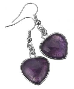 Amethyst earrings dangle – Handmade silver Amethyst earrings. how to open chakra with crystals, opening chakra with crystals