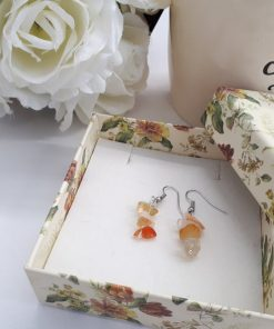 Citrine Crystal Earrings - Citrine Crystal Earrings set - Citrine Stone Jewelry - Chip gemstone earrings - Dangle Earrings for Women