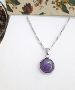 Protection eye necklace,protection from evil necklace. Amethyst pendant