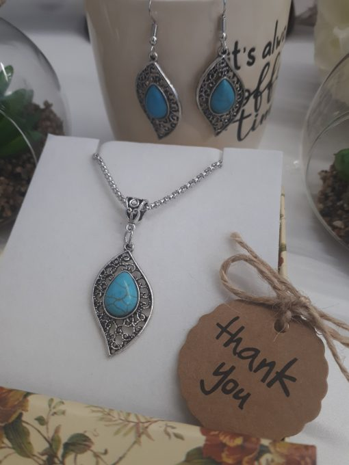 EMF protection pendant, emf protection pendants. Genuine Turquoise Earrings and Necklace – Blue Stone Dangle Earrings December Birthstone Jewelry