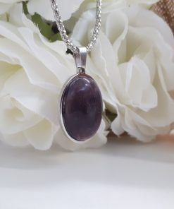 Amethyst Crystal Pendant for spirituality and meditation - Amethyst Talisman for focus and success