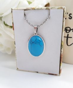 Turquoise gemstone Pendant - Talisman for communication, inner wisdom and calm - Best Crystal for calm.