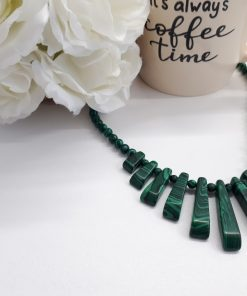Malachite Statement Necklace for protection and prevent negative energies