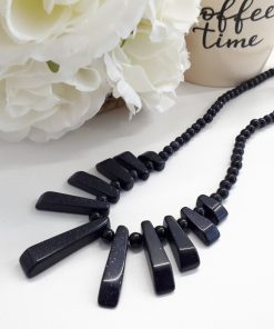 Blue Goldstone Statement necklace - Jewelry for calming and stabilize emotions